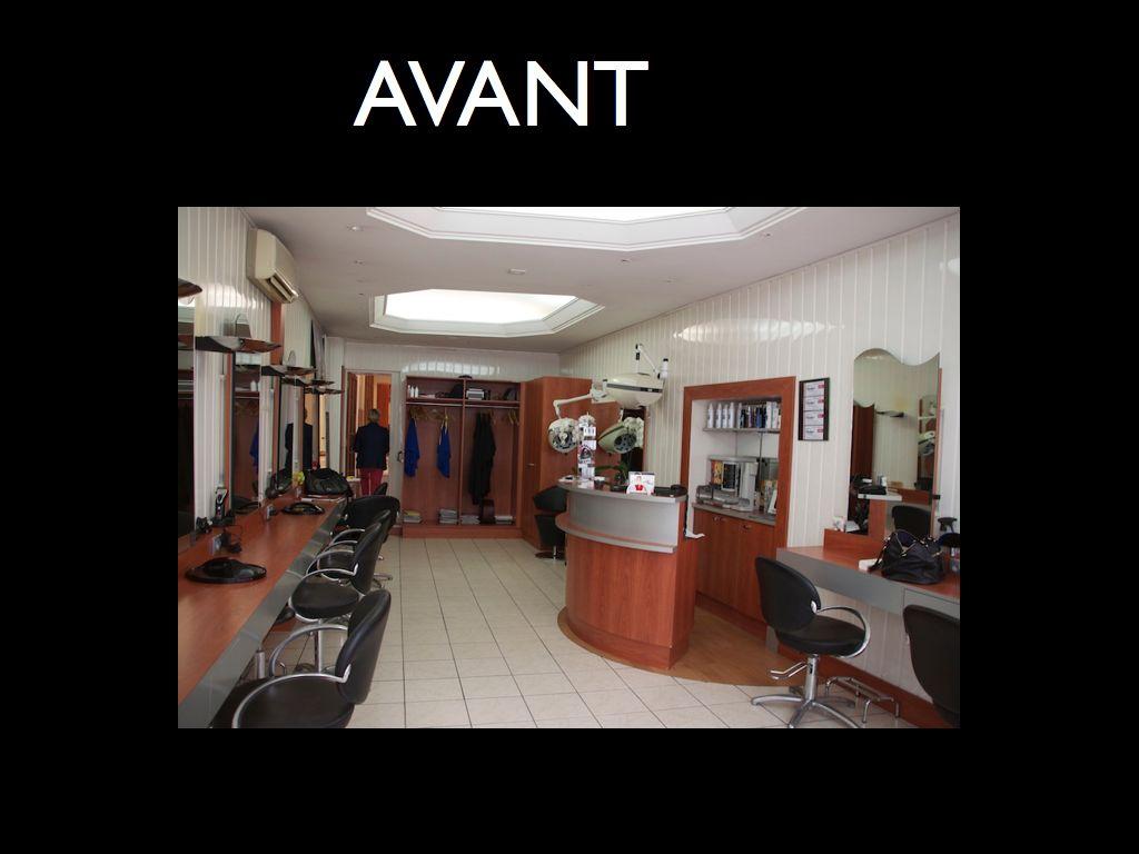 Salon de coiffure chic et moderne/ avant