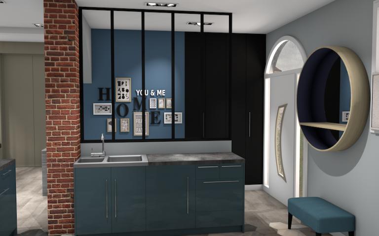 cuisine ouvert avec verri re. Black Bedroom Furniture Sets. Home Design Ideas