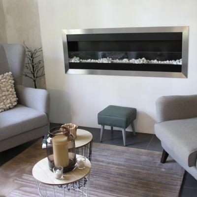 Création d'un espace cheminée et bureau