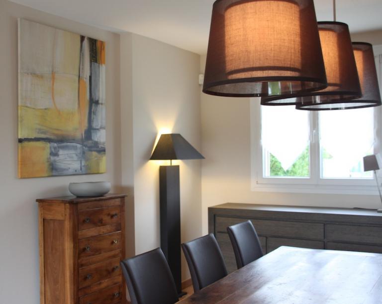 Lampe côté salle à manger