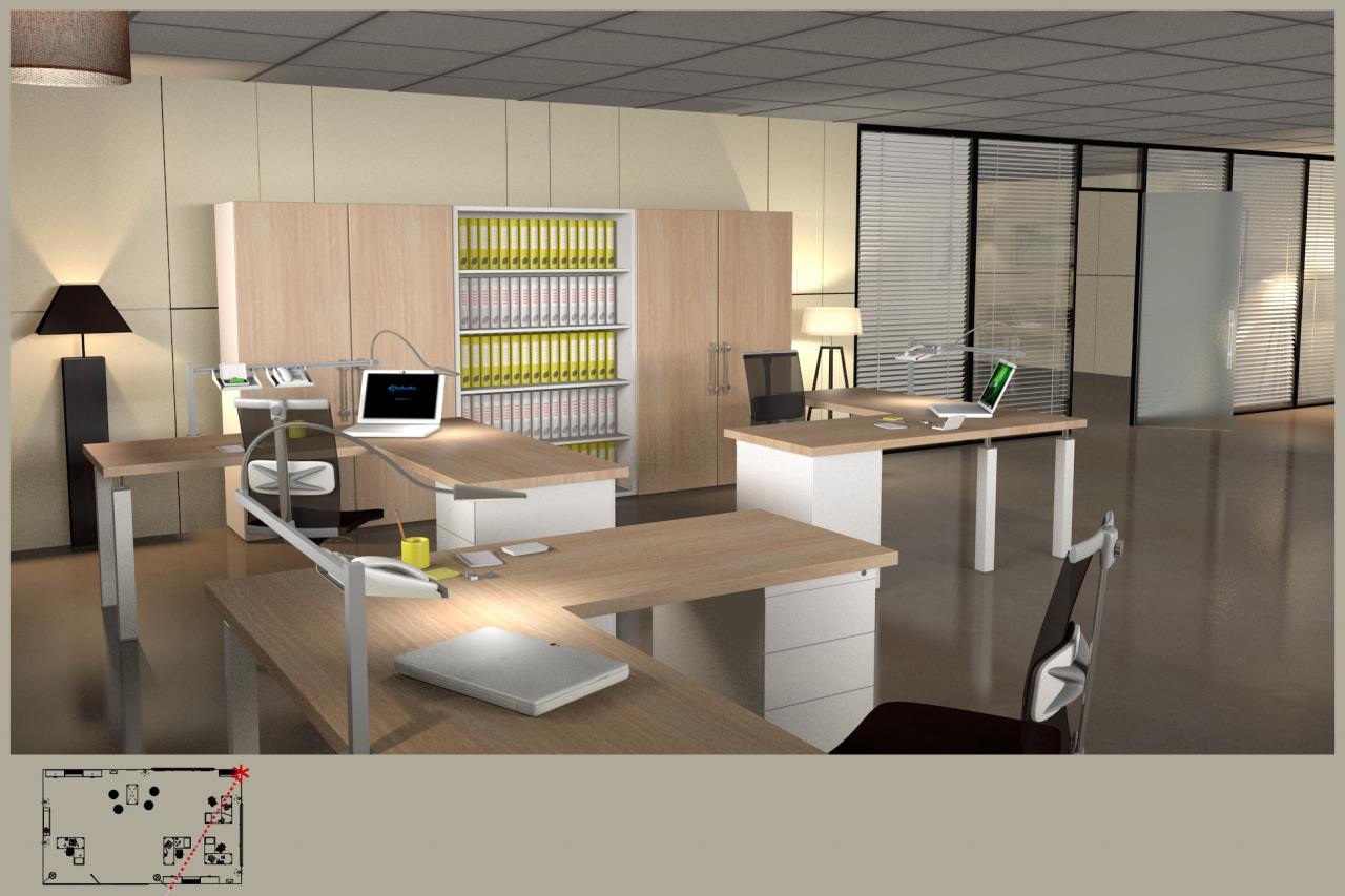 Am nagement et d coration de bureaux en open space for Amenagement et decoration