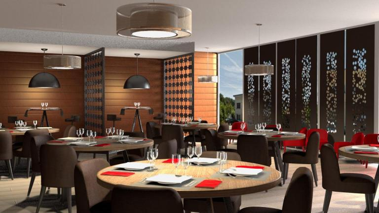 Restaurant contemporain et chic