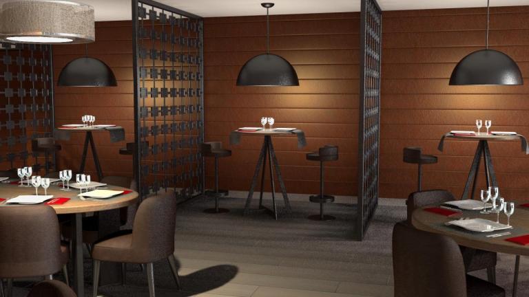 Aménagement de restaurant contemporain et design