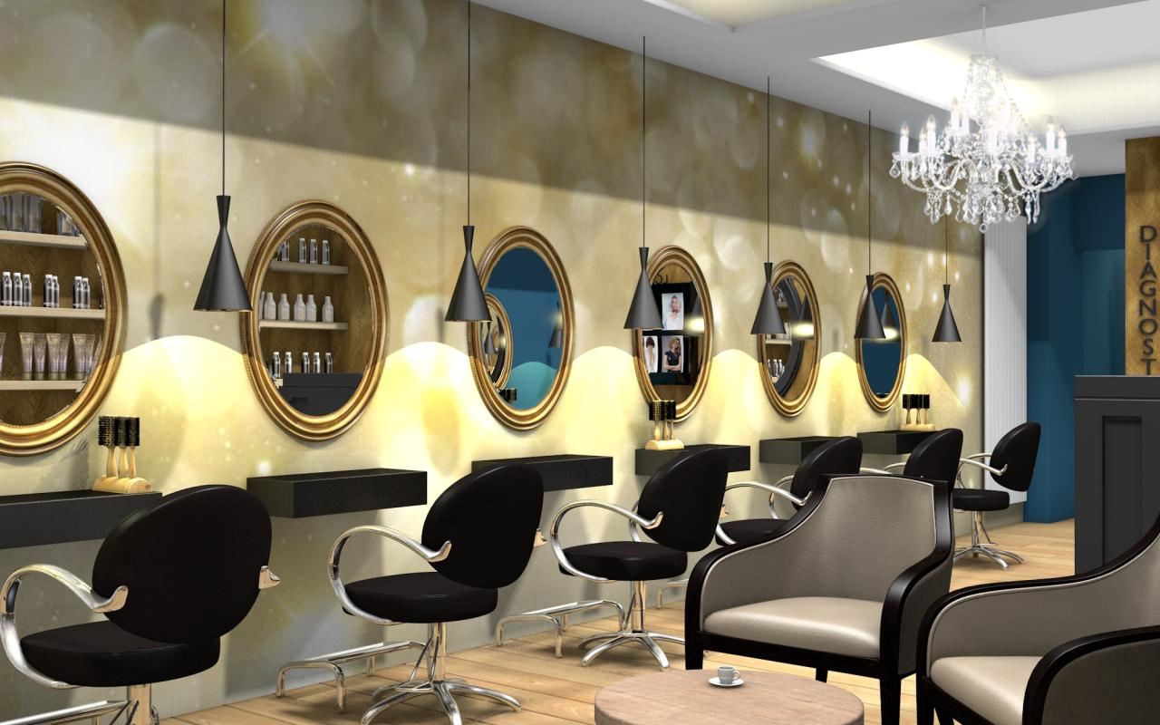 Salon de coiffure retro: illustration stock typographie de vintage ...