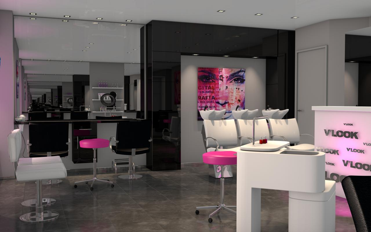 Id e de deco pour salon de coiffure for Salon de the decoration