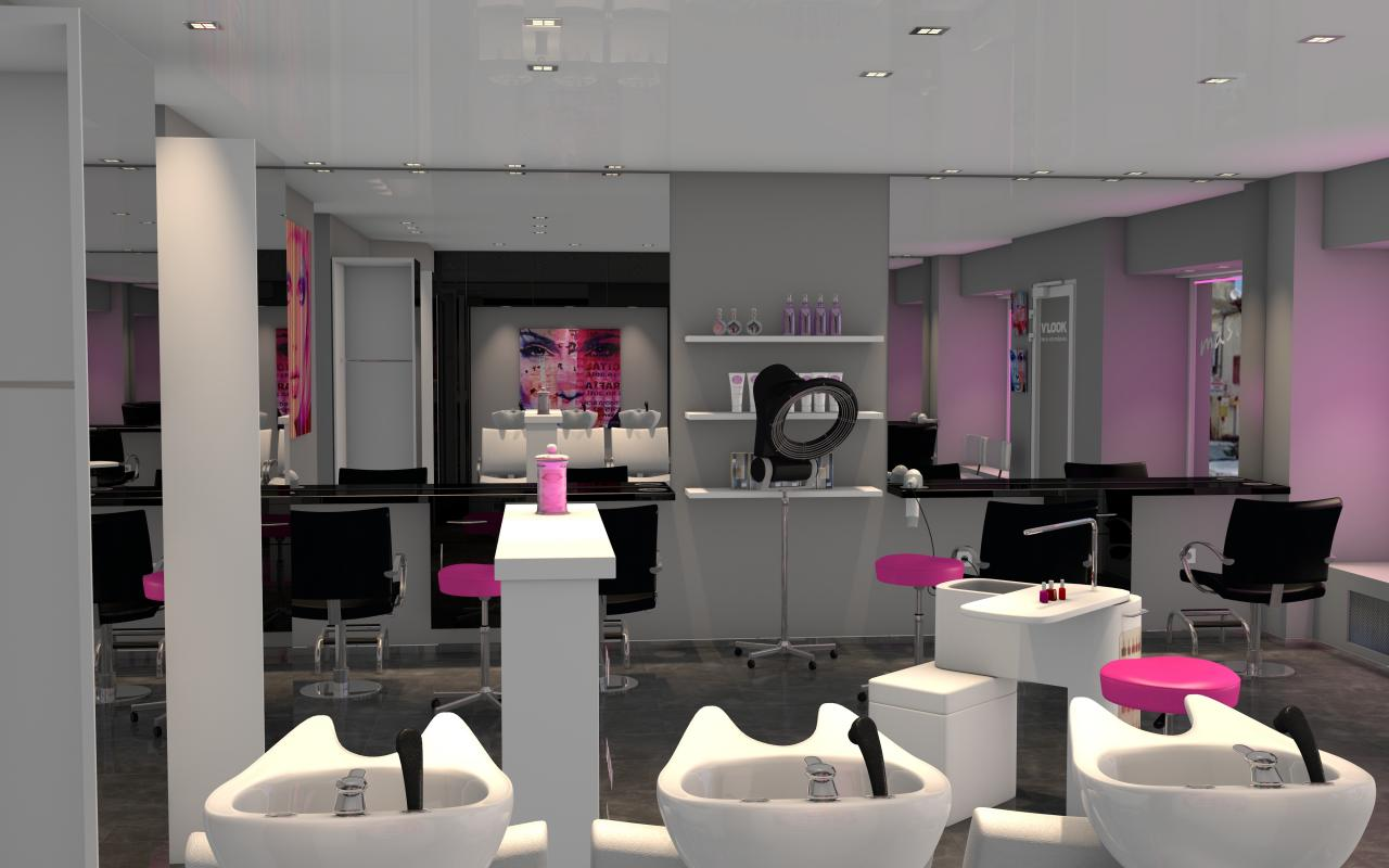 Salon moderne coiffeur for Salon de the decoration