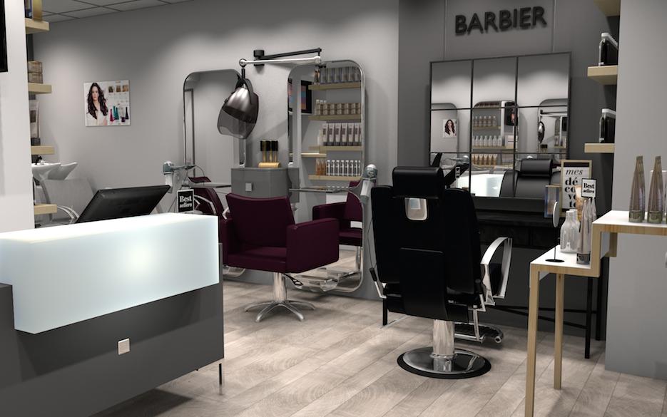Home staging pour salon de coiffure
