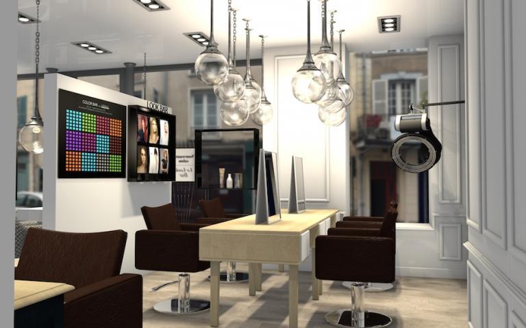 Agencement d'un salon de coiffure à tendance appartement Parisien