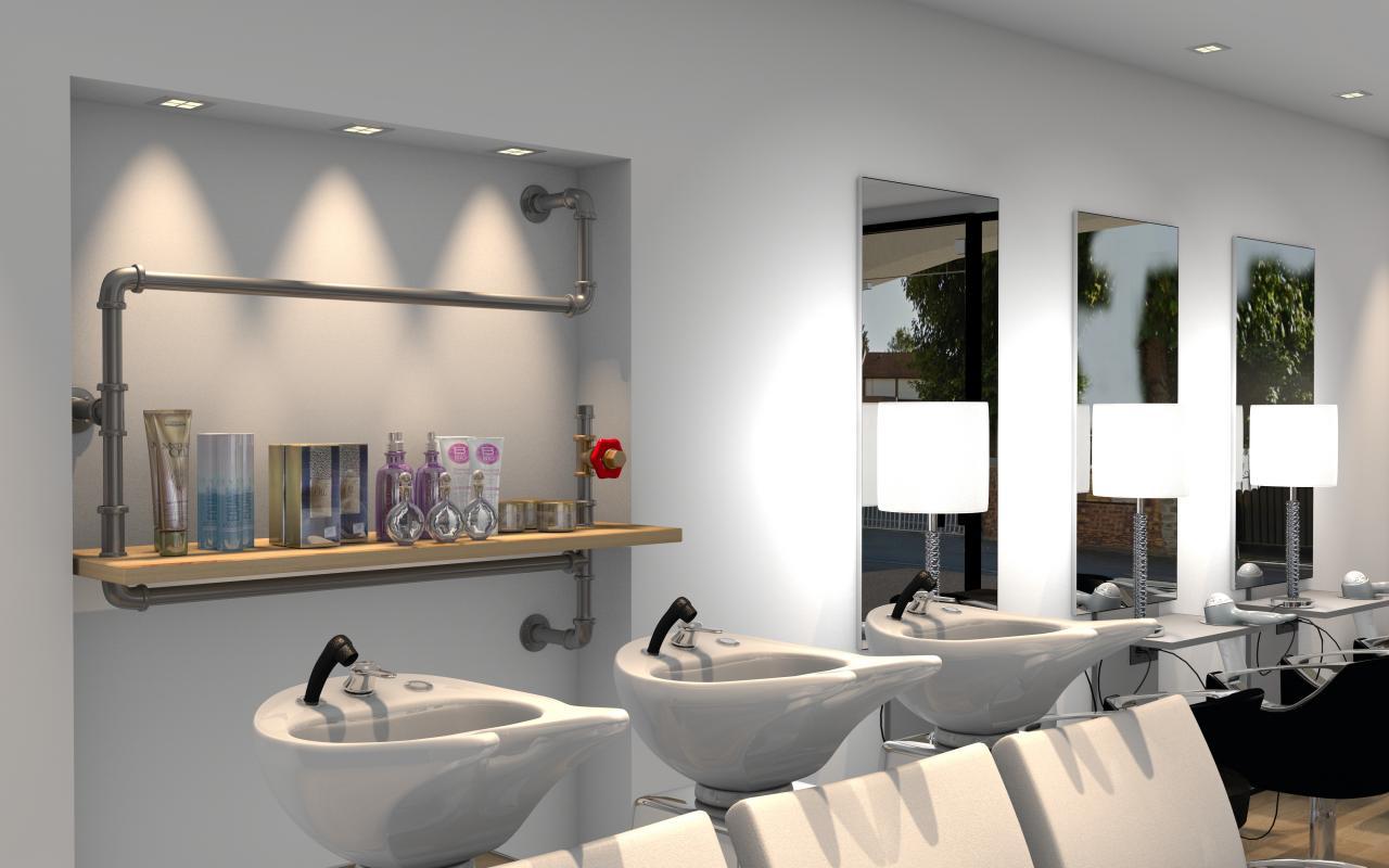 Salon de coiffure style industriel à Gretz