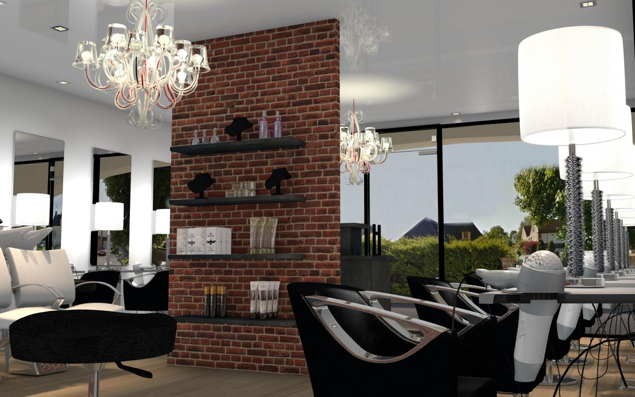 salon de coiffure style industriel gretz. Black Bedroom Furniture Sets. Home Design Ideas