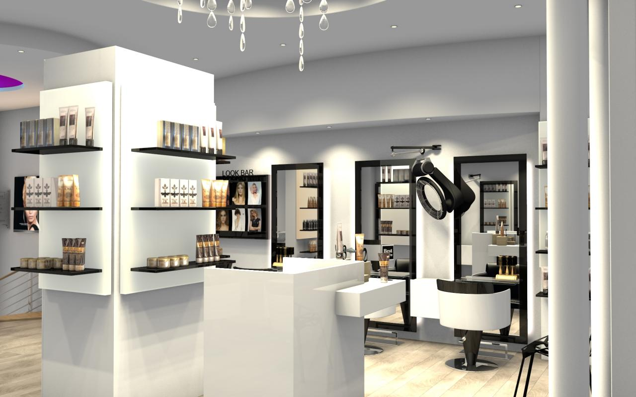 Salon de coiffure deco joy studio design gallery best for Decoration pour salon de coiffure