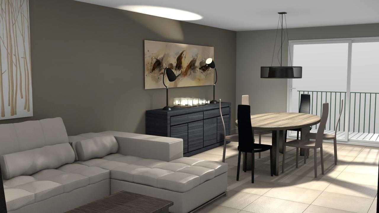 3d s jour salon salle manger moderne. Black Bedroom Furniture Sets. Home Design Ideas