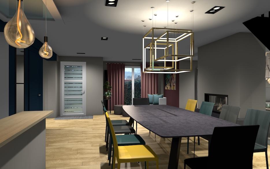 SejourCourtry-Plusieurs couleurs de bleu pour des chaise en cuir 1001 idées