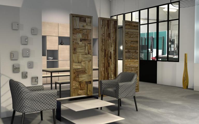3D espace salon