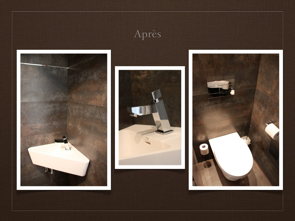 D co wc chocolat for Amenagement toilette