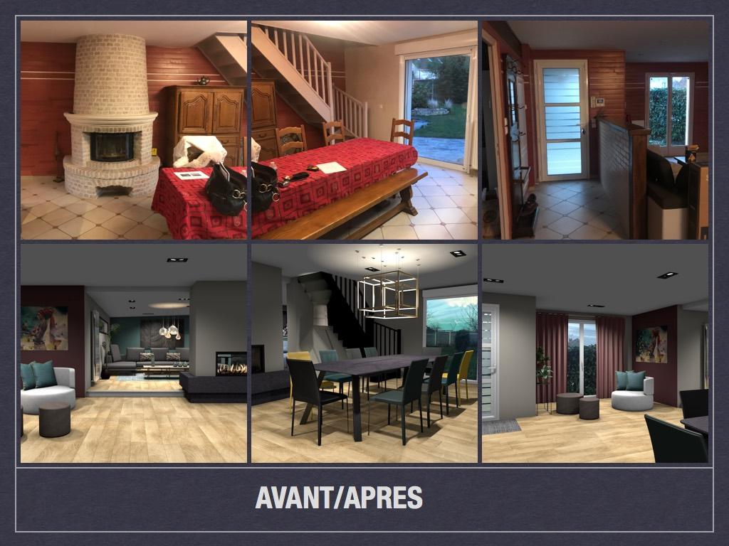 Avant/ Après: projet de décoration et d\'aménagement d\'espace