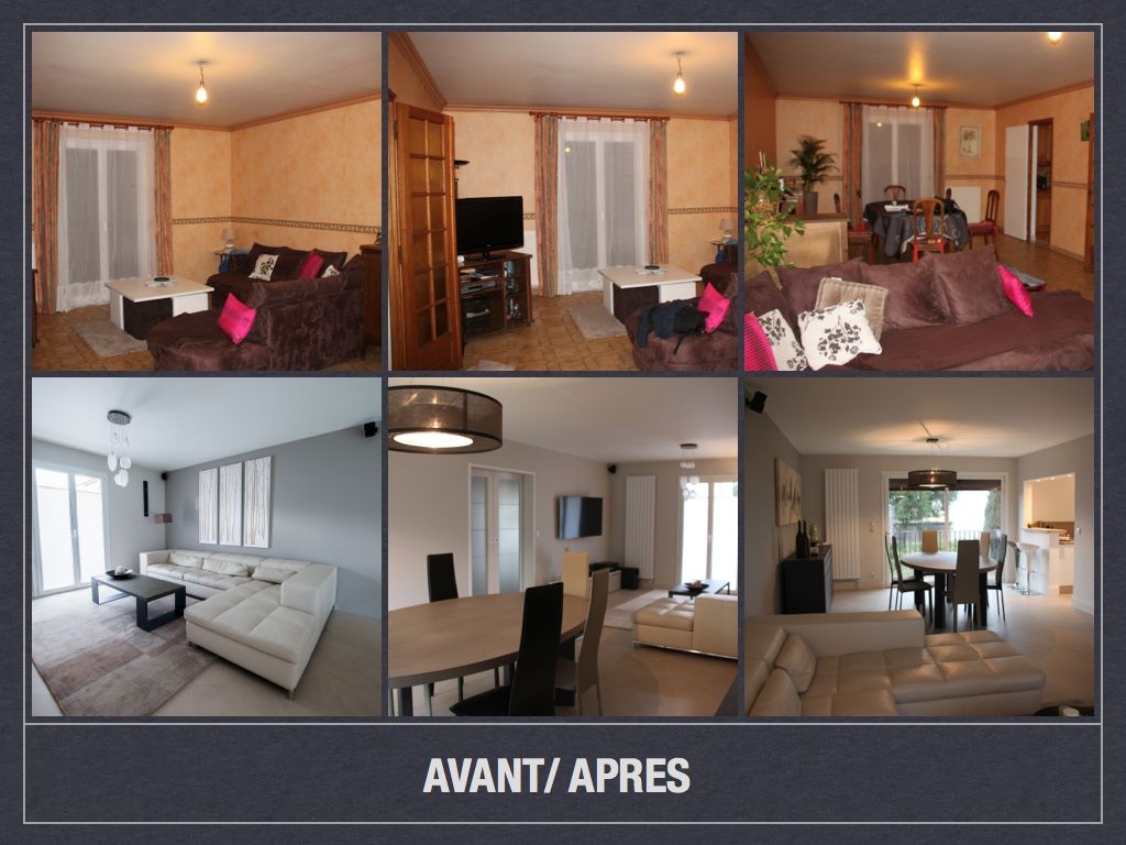 Avant apr s projet de d coration et d 39 am nagement d 39 espace for Idee amenagement salon