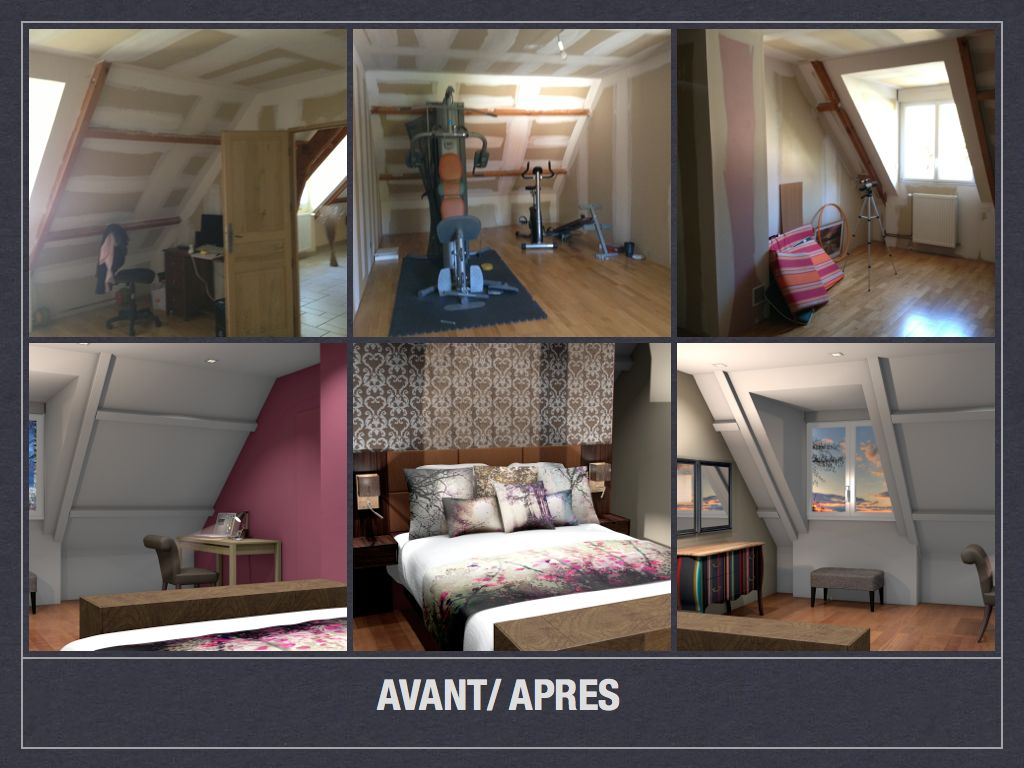 Amenagement Chambre Mansardee. Finest With Amenagement Chambre ...