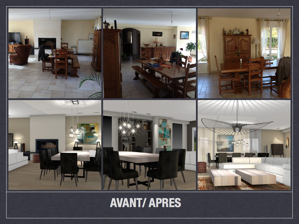 Avant apr s projet de d coration et d 39 am nagement d 39 espace for Amenagement salon en l