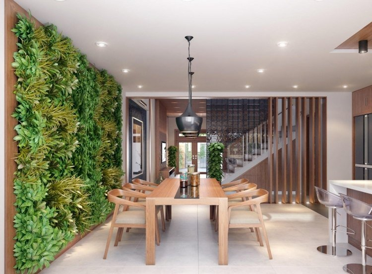 Le mot dordre de 1001 idées de décoration faites vous plaisir table chaises salle manger bois mur ve ge tal inte rieur