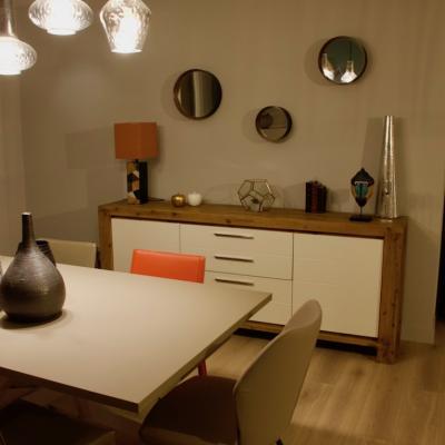 Buffet bois et blanc Peggy Guezello 1001 idées