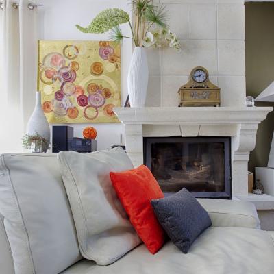 Canapé blanc moderne Peggy Guezello