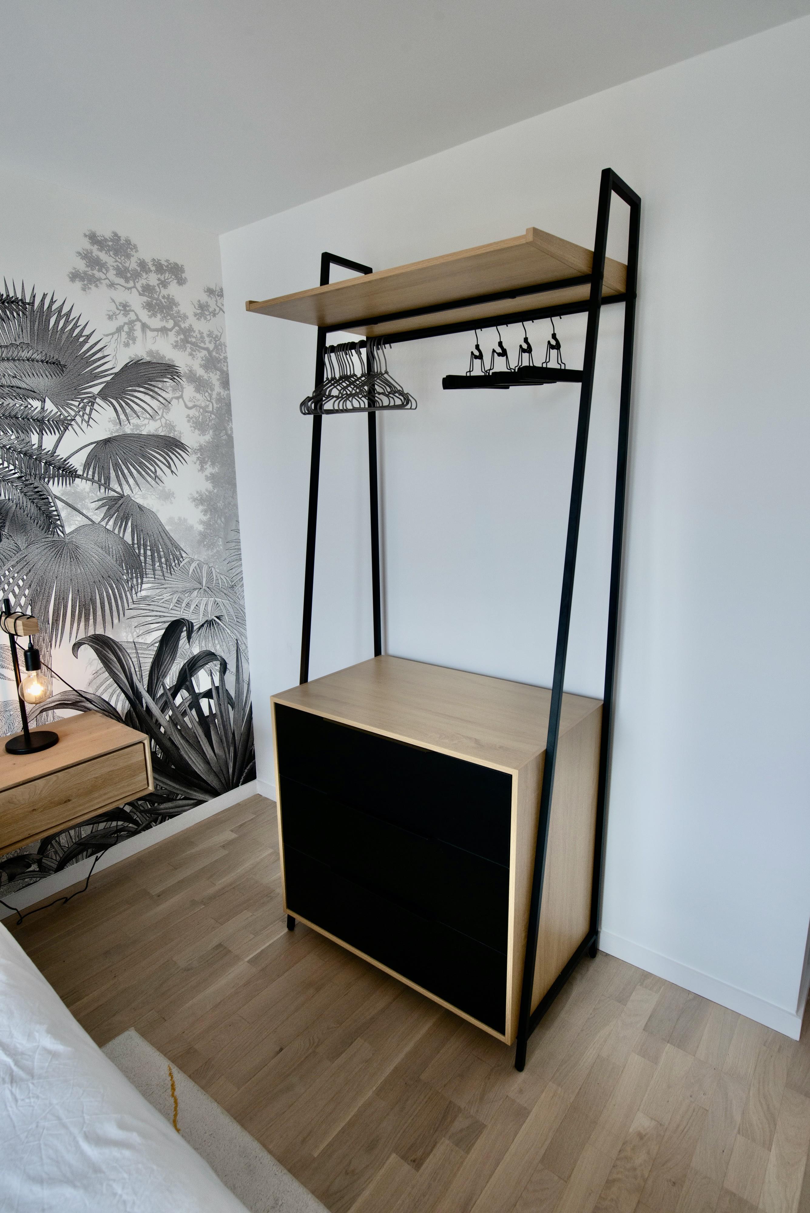 Chessy meuble de rangement bois et noir