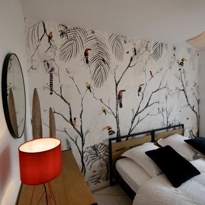 Chessy papier peint panoramique tropical oiseau