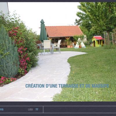 Création terrasse et massif par 1001 idées