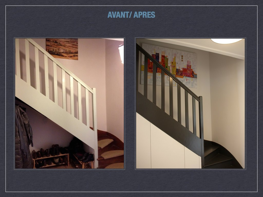 Escaliers avant: après