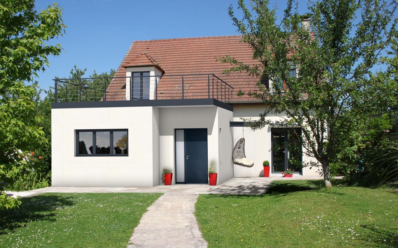 Maison Contemporaine Toit Terrasse extension de maison moderne avec toit plat, terrasse