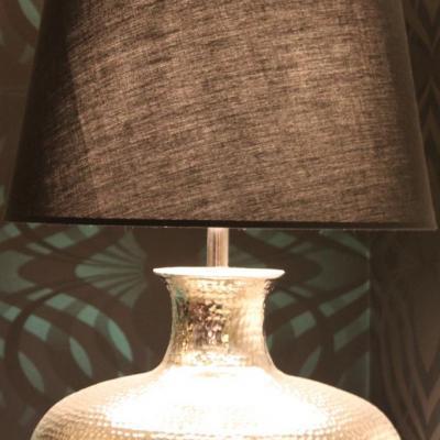 Lampe noir et argent