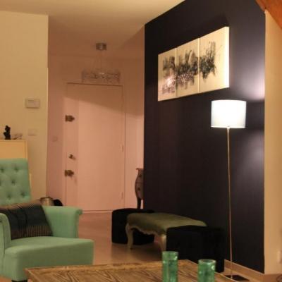 Décoration de salon dans les bleus