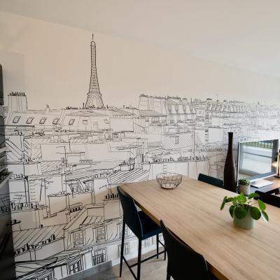 Peggy guezello 1001 ide es appartement chessy papier peint panoramique