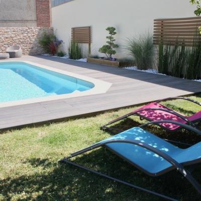 Peggy guezello 1001 ide es jardin avec terrasse et piscine