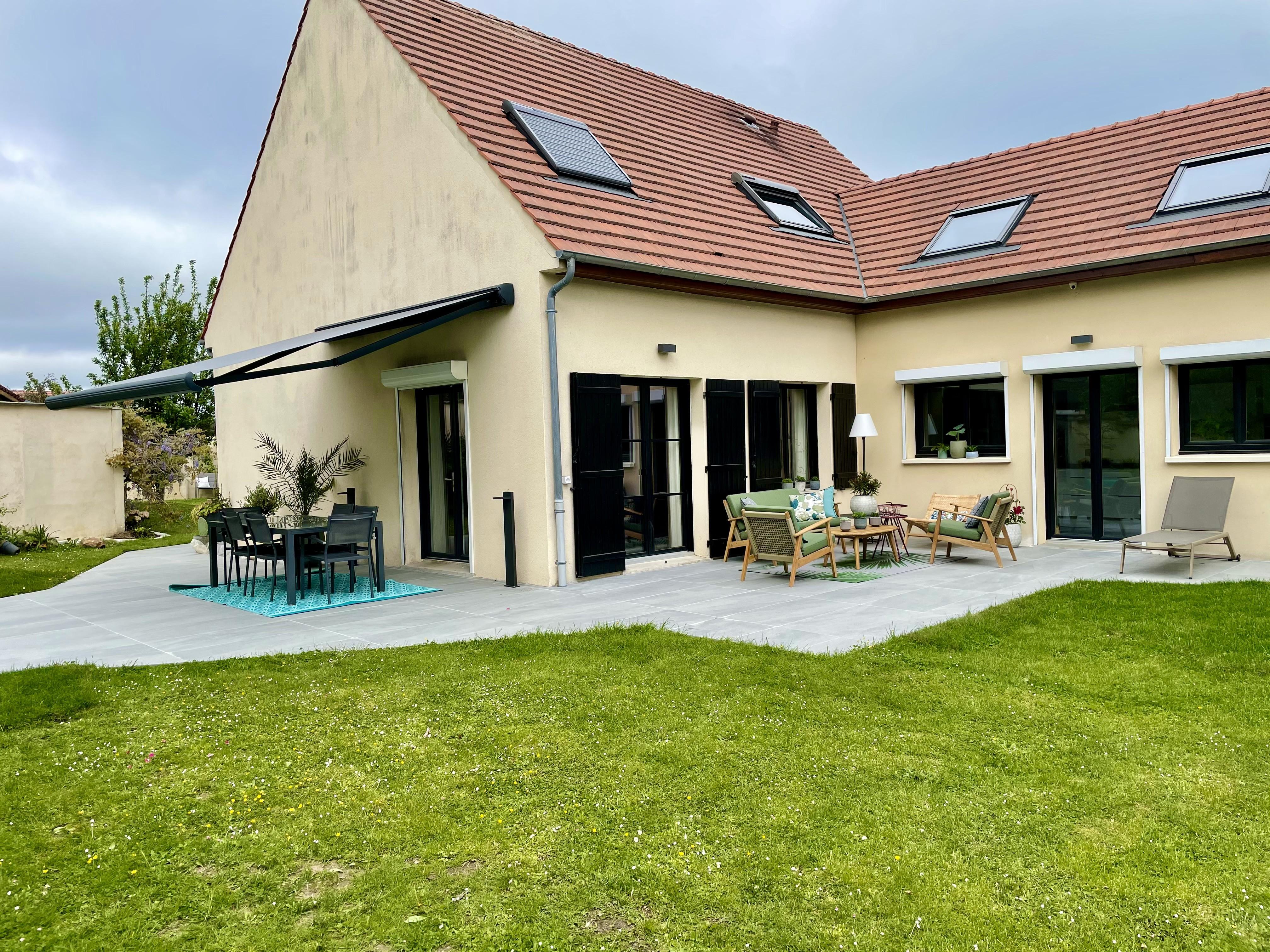 Peggy guezello ame nagement de jardi et terrasse vue maison