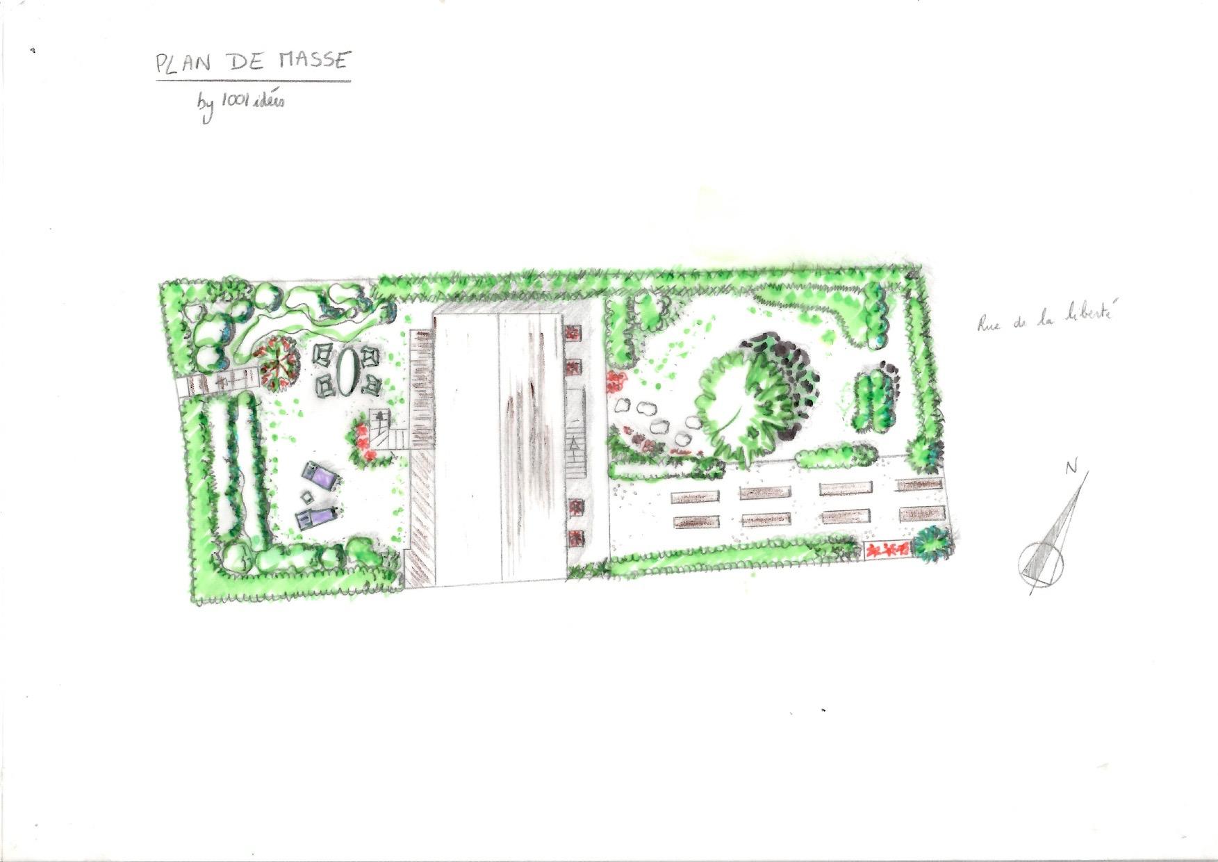 Plan de masse dessin 1001 idées