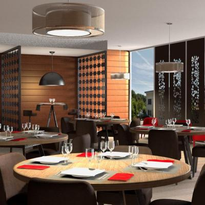 Restaurant contemporain et chic