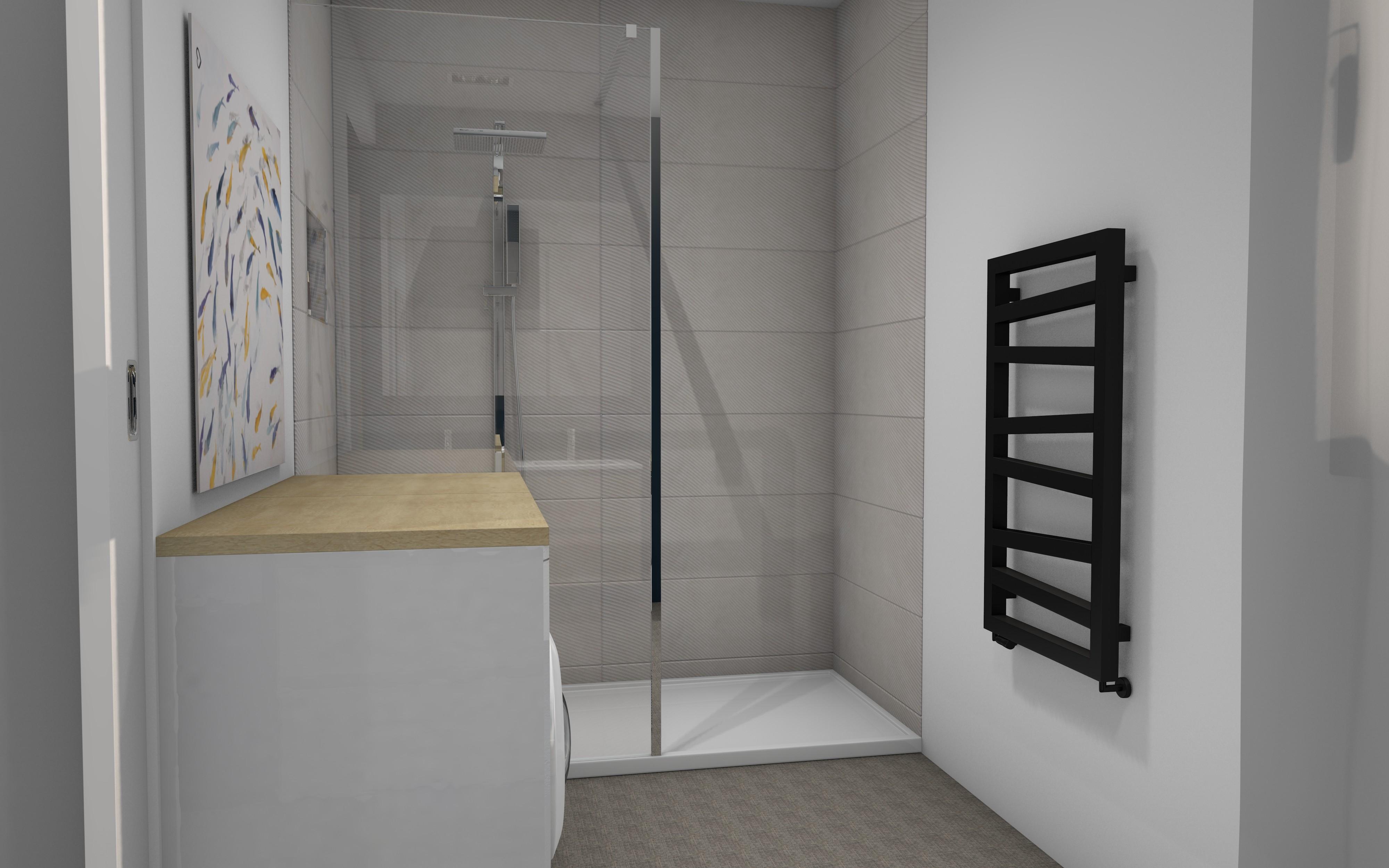 Royan salle de bains avec douche à l'italienne