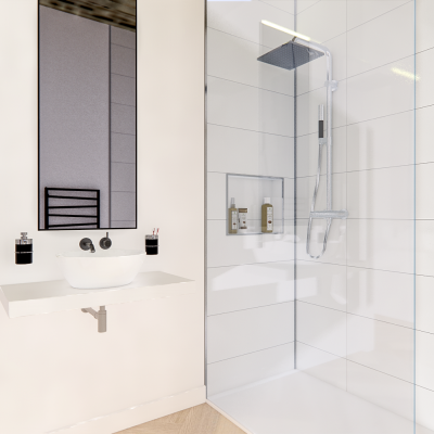 Salle de bains noir et blanc design