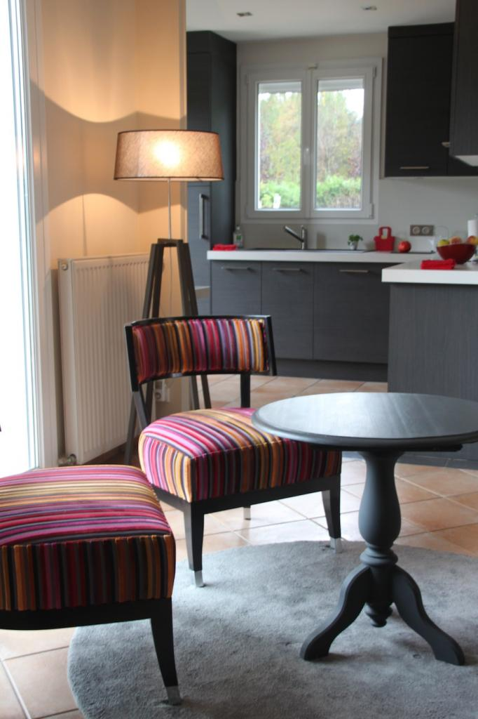 Petit salon et cuisine