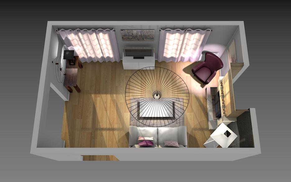 Modernisation d'un séjour, coin canapé