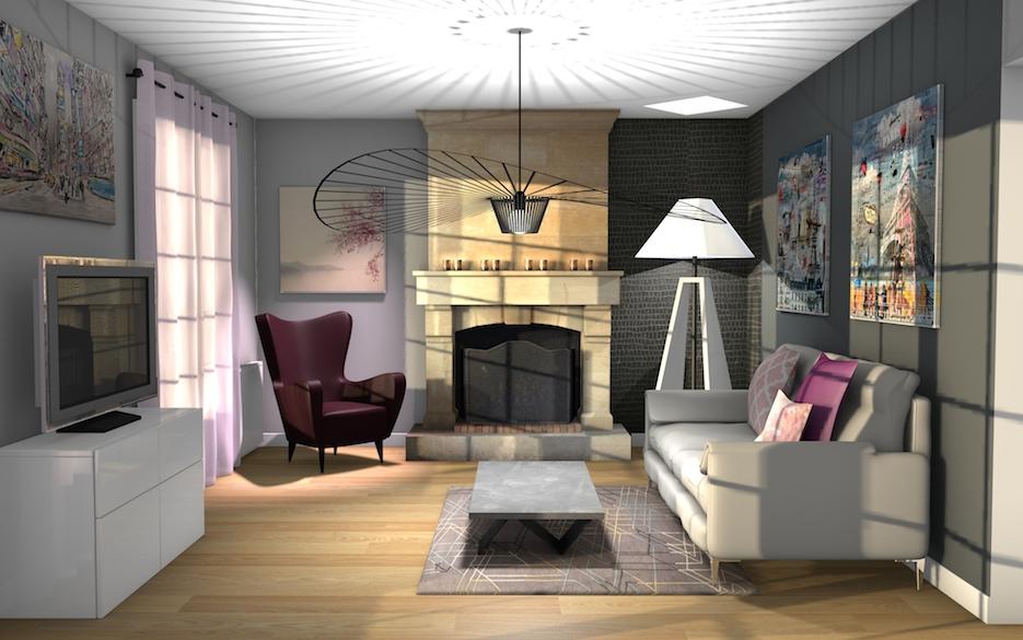 Modernisation d'un salon à Brie Comte Robert