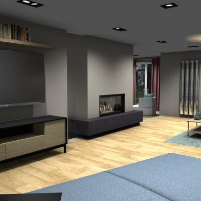SejourCourtry- meuble télé en bois clair et noir 1001 idées
