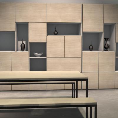 3D espace salle à manger