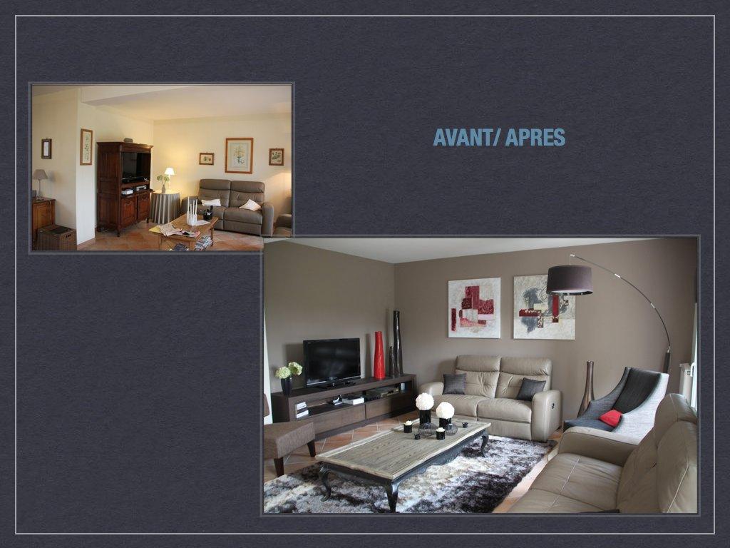 Home Staging Meuble Tv avant/ après: projet de décoration et d'aménagement d'espace