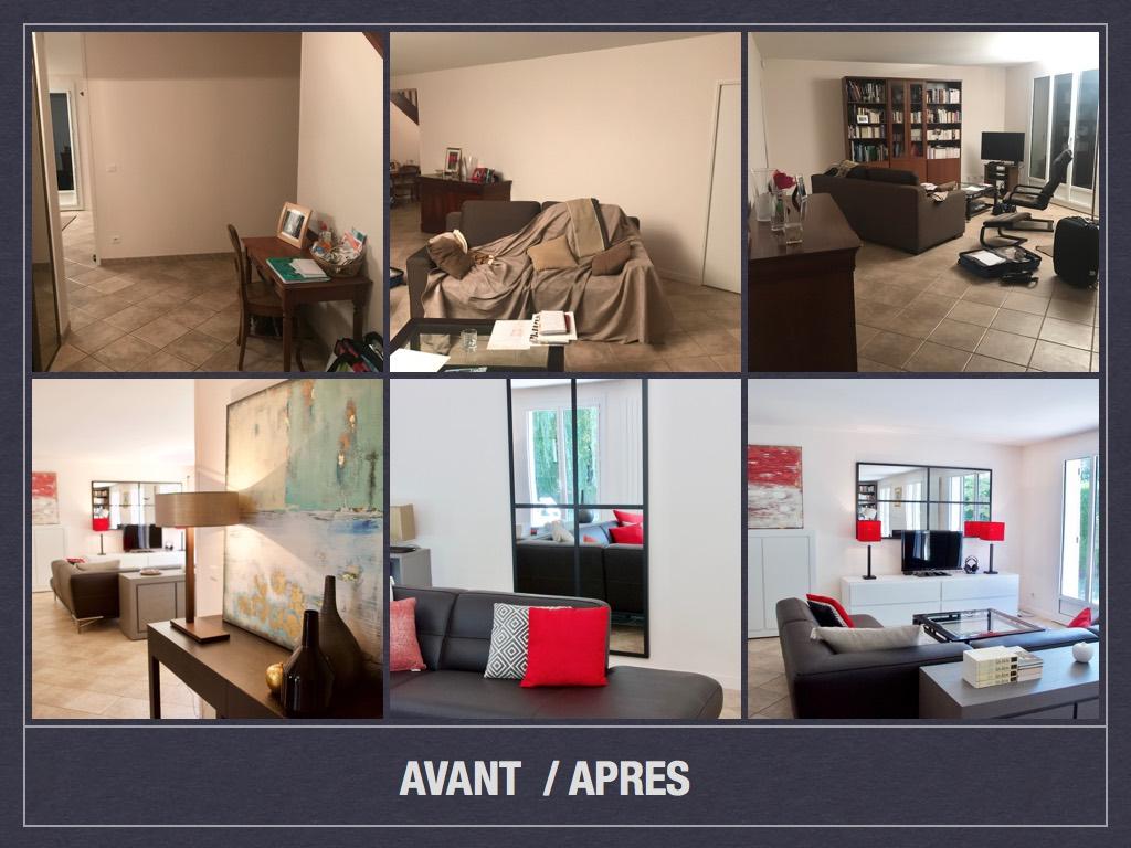Deco Petit Salon Appartement avant/ après: projet de décoration et d'aménagement d'espace