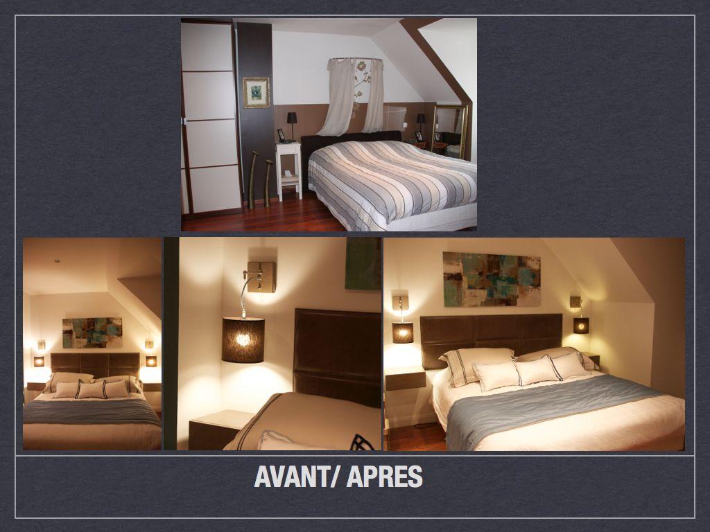 Home Staging Chambre Adulte avant/ après: projet de décoration et d'aménagement d'espace